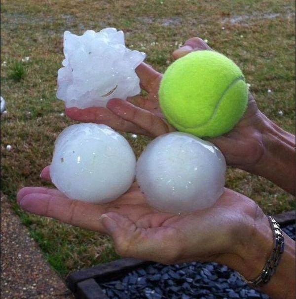 Mississippi Hailstorm (10 pics)