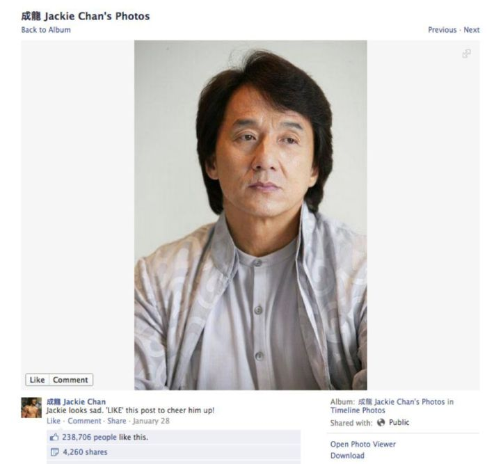 Jackie Chan's Photos on His Facebook (31 pics)