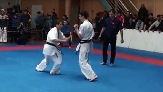 Amazing Karate Winning Kick