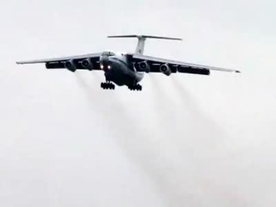 Giant Russian Plane vs Powerful Wind