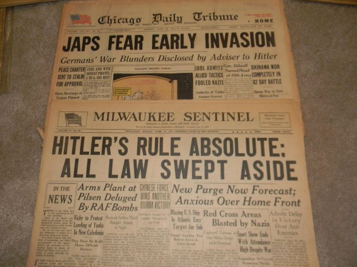 Old Newspapers with Historical Headlines (20 pics)