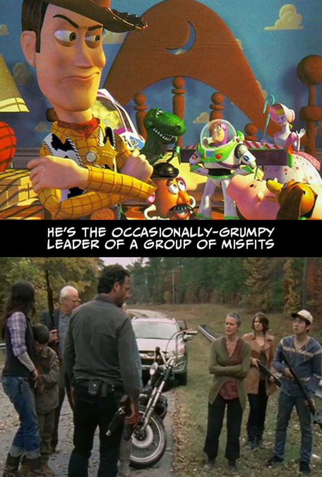 The Walking Dead vs Toy Story (40 pics)