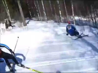 Ski Race Gone Wrong