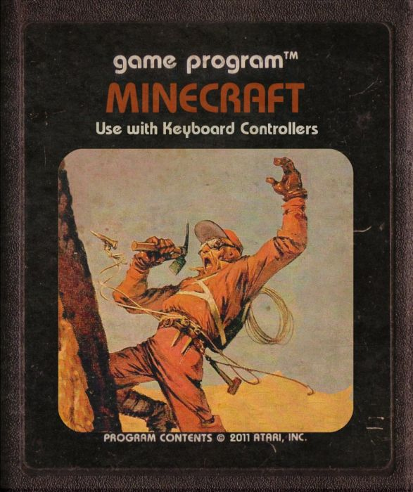 Modern Video Games Made as Atari Cartridges. Part 2 (46 pics)