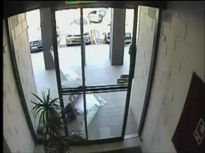 Epic Glass Door Fail