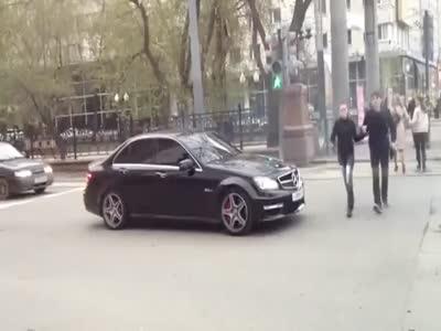 Driver of Mercedes AMG Trolls Pedestrians