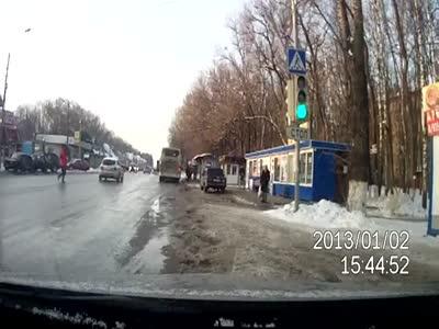 Crazy Pedestrian vs Driver Fight