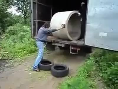 Stupid Way to Unload a Truck