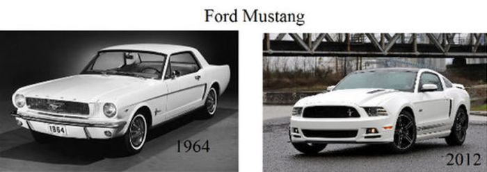 Car Models Back Then and Today (19 pics)