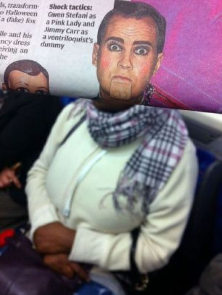 Newspaper Faces (20 pics)