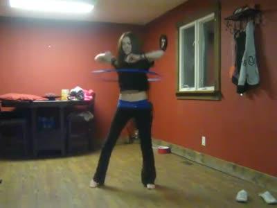 Sexy Hula Hoop Babe