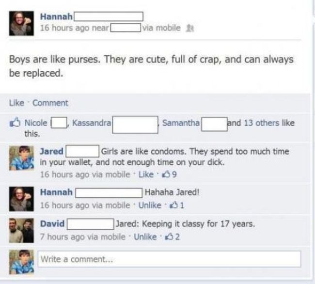 Stupid Posts on Facebook. Part 3 (21 pics)