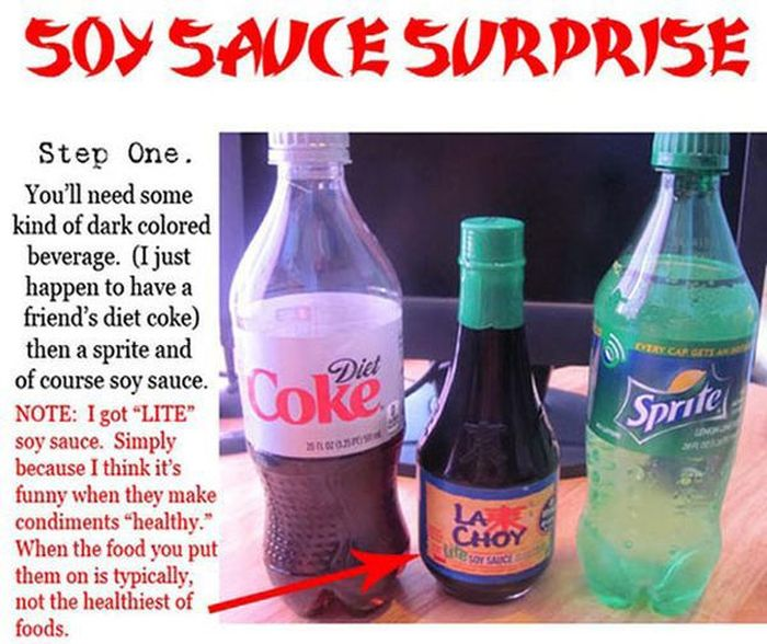 Soy Sauce Surprise (6 pics)