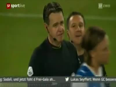 Referee Crying on The Last Game in Career