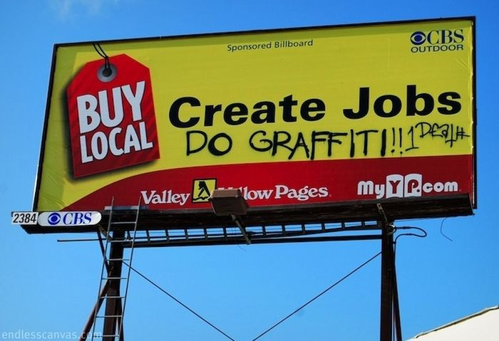 Masterfully Vandalized Billboards (30 pics)