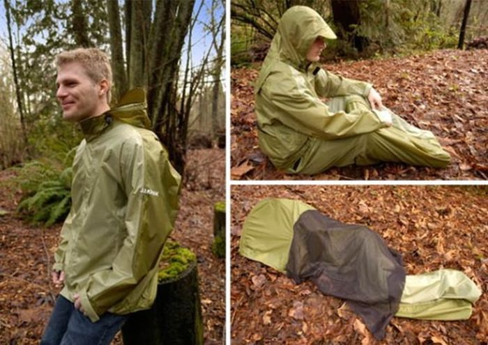 Convertible Jacket/Tent/Sleeping Bag (6 pics + video)