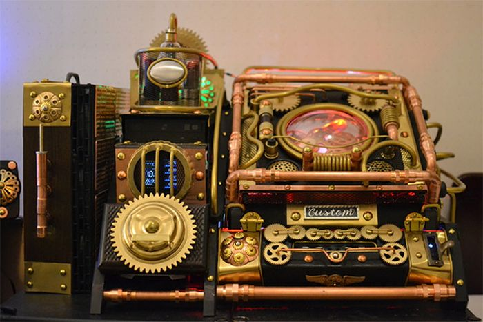 Steampunk Bioshock Infinite PC Case Mod (8 pics)