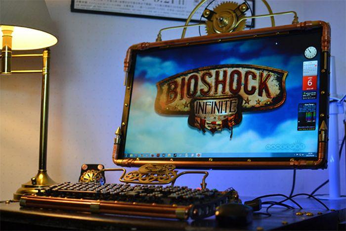 Steampunk Bioshock Infinite PC Case Mod (8 pics)