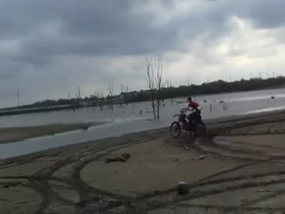 Crazy Motorcycle Water Riding Gone Wrong