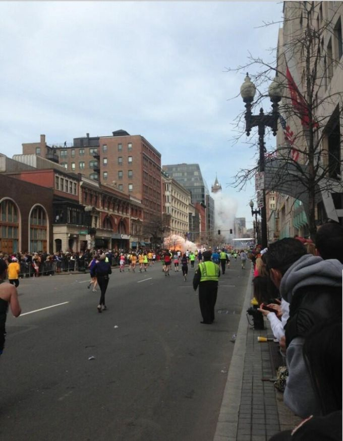 Letupan di Marathon Boston