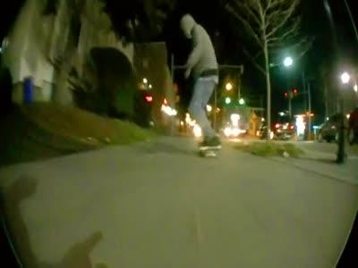 Skater Got Hit By a Car