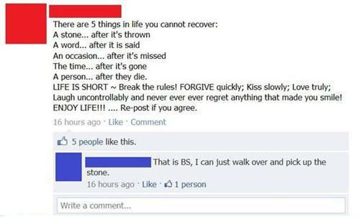 Funny Facebook Status Updates (18 pics)
