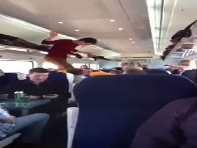 Awesome Train Dance in Dublin