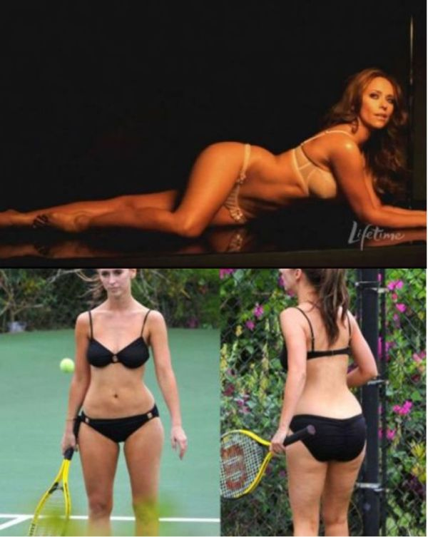 Photoshopped Celebrities vs Real Life Celebrities (12 pics)