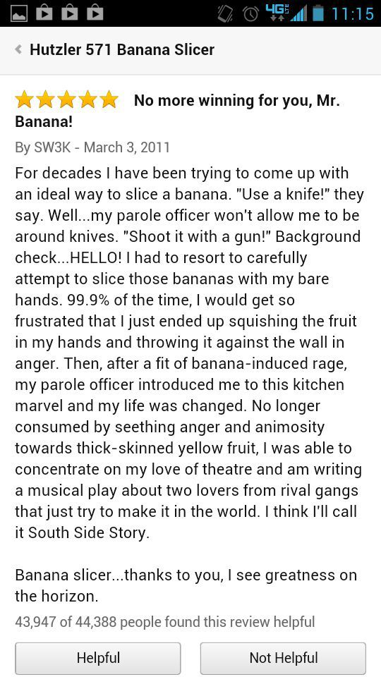 Amazon Banana Slicer Reviews (4 pics)