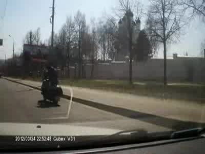 Hilarious Russian Bikers Style