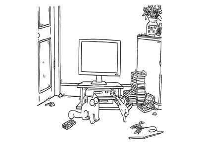 Funny Simon's Cat 'Screen Grab'