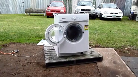Crazy Destruction of Washing Machine