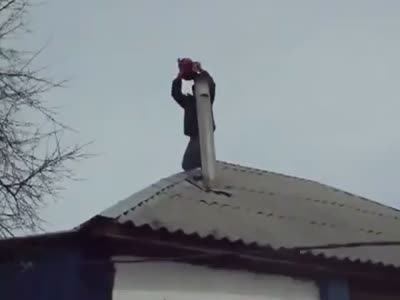 Weird Way to Clean a Chimney