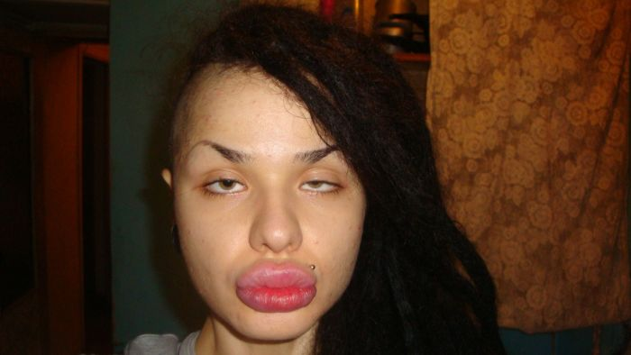 Kristina Rei, Girl with the World's Largest Lips (28 pics)