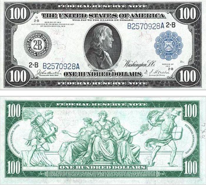 The Evolution Of The $100 Bill (15 pics)