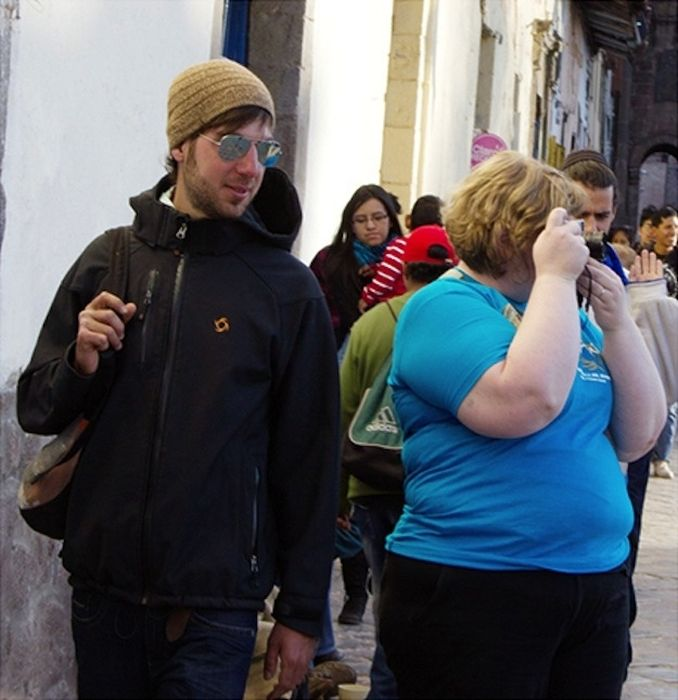 Woman Receives Strange Looks in Public (16 pics)