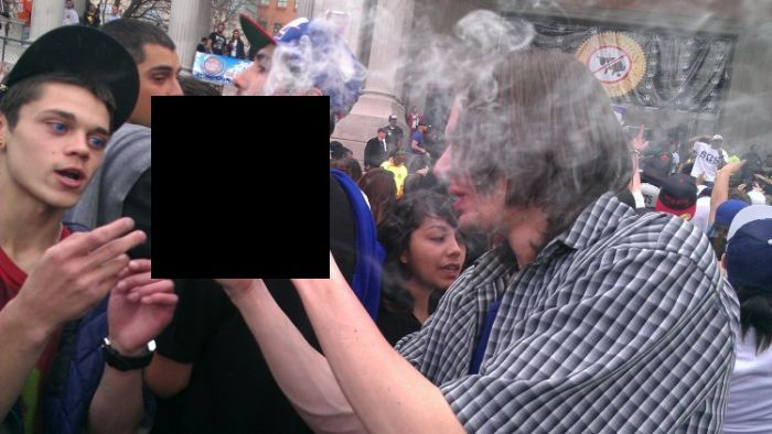 Two Pound-Joint Seized By Cops At Santa Cruz 4/20 Rally (5 pics + video)