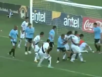 Hilarious Soccer Goal Battle