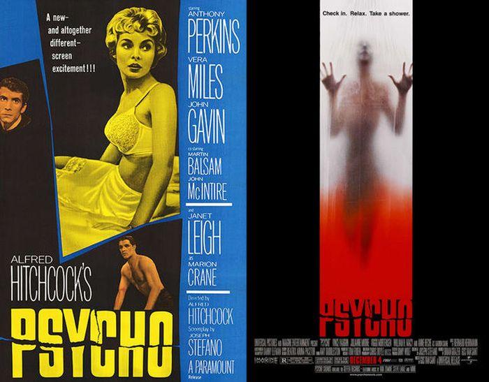 Original Horror Movie Posters vs. Their Remakes (35 pics)