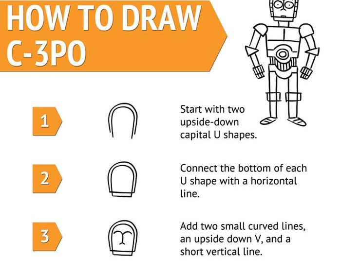 How to Draw The Droids (2 pics)