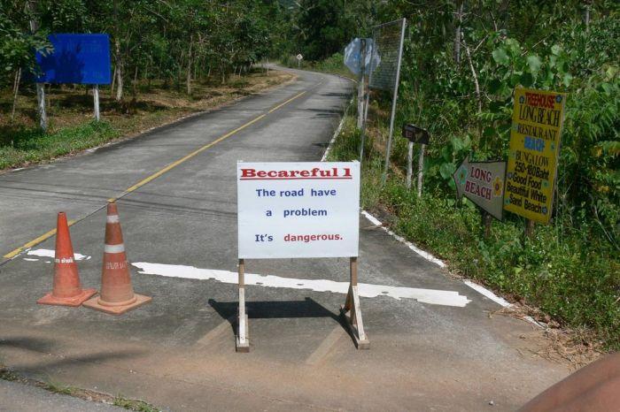 This Road Definitely Has a Problem (8 pics)