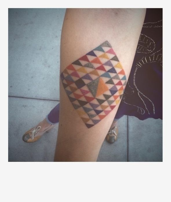 Geometric Tattoos (73 pics)