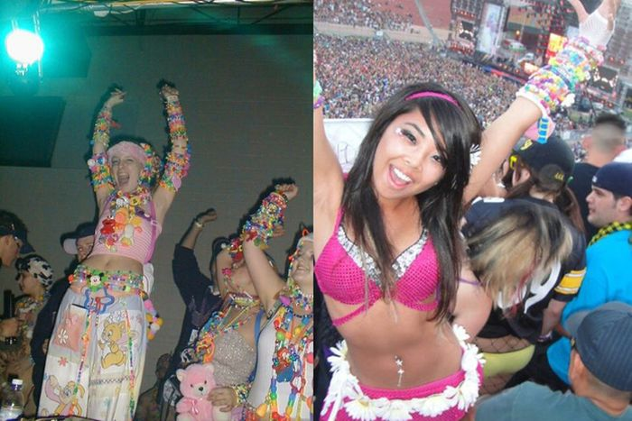 Rave Kids. '90s vs Today (20 pics)