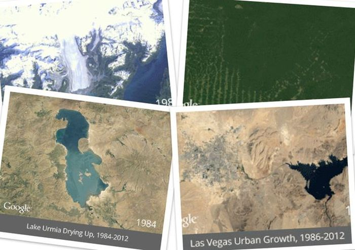 How Earth has Changed (6 gifs)
