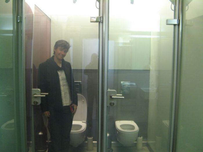 Transparent WC Door (2 pics + video)