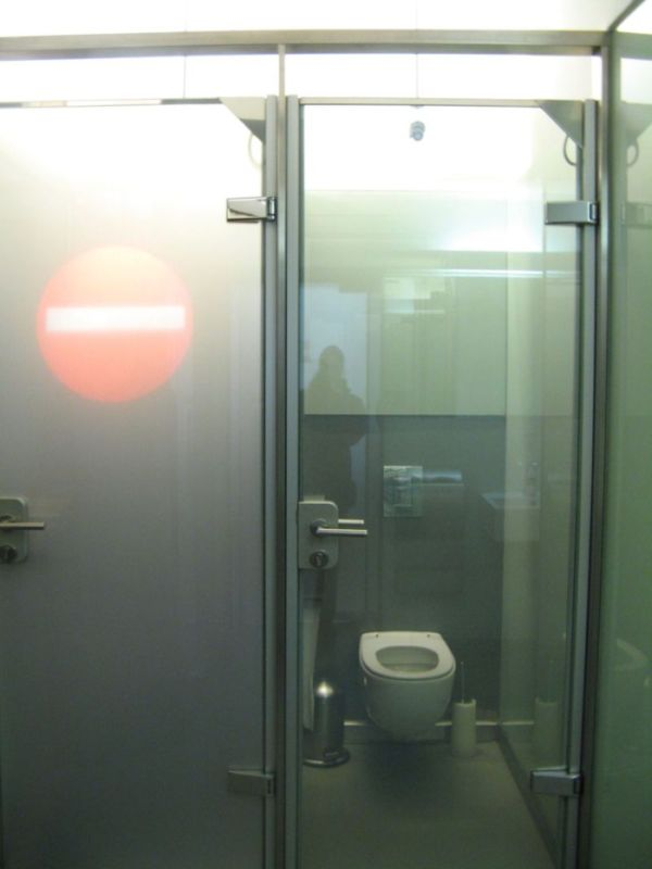 Transparent WC Door (2 pics + video)