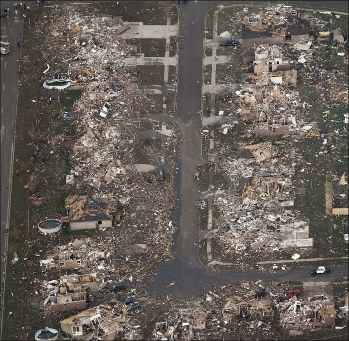 Oklahoma Tornado - Effected area