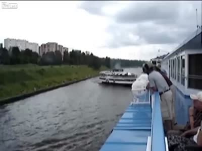 Passenger Boats Accident in Moscow