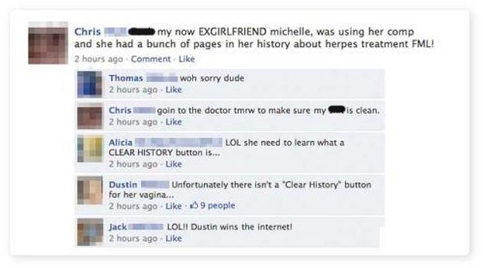 Facebook Fails and Wins. Part 4 (20 pics)