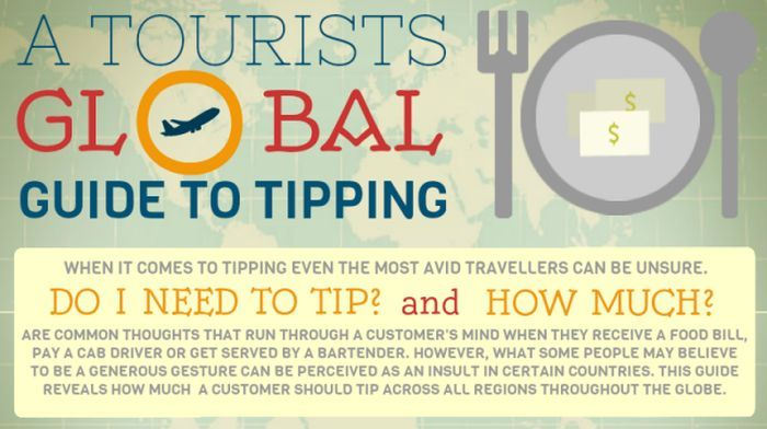 A Tourist's Global Guide to Tipping (infographic)
